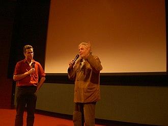 Saravah - Pierre Barouh lecturing in Paris, 2005, photo: Alex de Carvalho