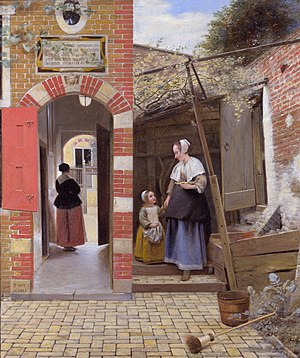 1658 in art - Image: Pieter de Hooch The Courtyard of a House in Delft