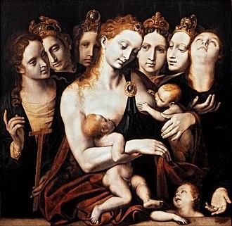 Museo Nacional de San Carlos - Image: Pieter de Kempener As sete virtudes, c. 1550