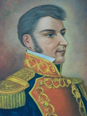 Battle of El Maguey - A portrait of Ignacio Lopez Rayon who commanded the retreating Mexican insurgents at El Maguey.