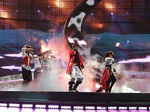 Pirates of the Sea, Latvia, Eurovision 2008.jpg