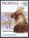 Pithecophaga jefferyi 2008 stamp of the Philippines 3.jpg