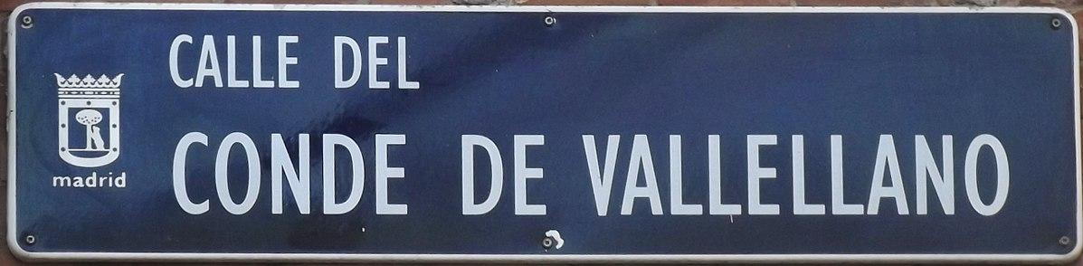 File:Placa de la calle del Conde de Vallellano, Madrid (cropped).JPG