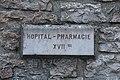 Plaque Hôpital Pharmacie Ancien couvent Capucins St Amour Jura 1.jpg