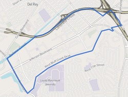 Playa Vista neighborhood as mapped by the Los Angeles Times