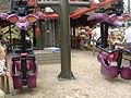 Plopsaland - Gare des montagnes russes suspendues Vleermuis.JPG