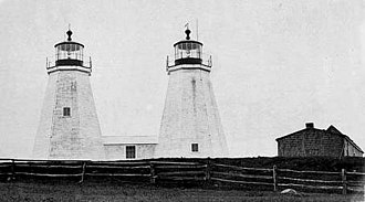 Plymouth Light - Image: Plymouth Light Twin Towers MA