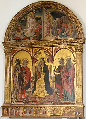 Sano di Pietro - Polittico in San Quirico d'Orcia's collegiata