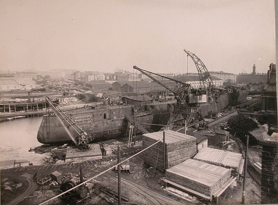 Poltava battleship fitting-out, 1912