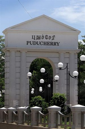 Puducherry - The territory changed its name to Puducherry in 2006