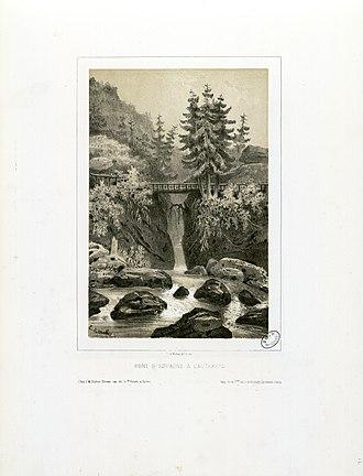Eugène de Malbos - Image: Pont d'Espagne à Cauterets Fonds Ancely B315556101 A LALANNE 2 014