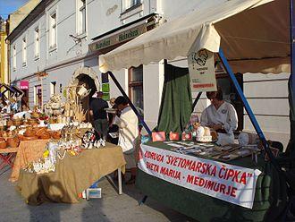 Lacemaking in Croatia - Lace from Sveta Marija (Svetomarska čipka) at an exhibition in Čakovec