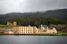 Tasmania's Port Arthur penal settlement is one of eleven UNESCO World Heritage-listed Australian Convict Sites. PortArthurPenitentiary.jpg