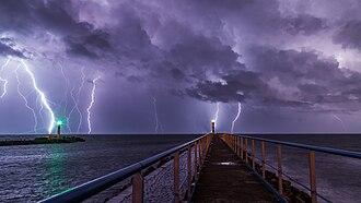 Storm - Lightning storm, Port-la-Nouvelle.