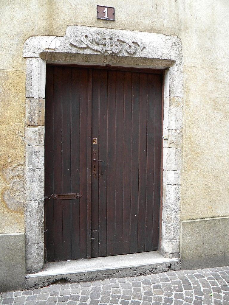 Porte D Entr Ef Bf Bde Avec Trois Vitrages Avec Decor Inox