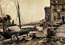Il porto di Ripetta verso il 1880 (Ettore Roesler Franz)