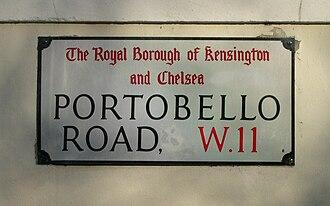 Portobello Road -  Portobello Road street sign