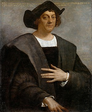 Catholic Monarchs - Christopher Columbus (1450 – 1506) pictured by Sebastiano del Piombo around 1520
