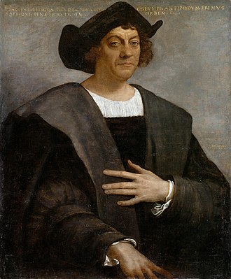 Liguria - Posthumous portrait of Christopher Columbus by Sebastiano del Piombo.