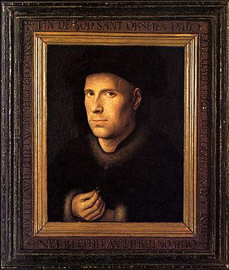 Portrait of Jan de Leeuw - Portrait of Jan de Leeuw, 24.5 x 19cm, 1436. Kunsthistorisches Museum, Vienna