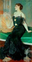 Portret damy w czarnej sukni (obraz)