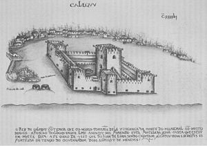Fall of Calicut (1526) - The Portuguese fort at Calicut.