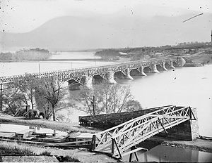 Aqueduct Bridge (Potomac River) - First Aqueduct Bridge between 1860 and 1865