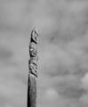 Pou whenua (Austronesian Totem pole) - Thorndon Quay (Wellington) - August, 2018 (Indexed greyscale).png