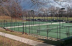 Poly Prep Country Day School - The tennis courts at Poly