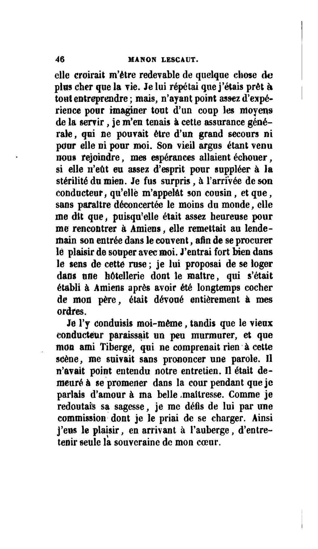Manon Lescaut La Première Rencontre Texte