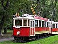 Praha, Bubeneč, smyčka Výstaviště, tramvaje č. 2210+1530 (04).jpg