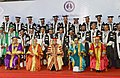 Pranab Mukherjee at the inauguration of First Convocation of the Central University of Kerala, at Kasaragod, in Kerala. The Governor of Kerala, Smt. Sheila Dixit, the Chief Minister of Kerala.jpg