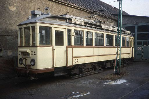 Pre-war Tram nr 34,Straßenbahn Schöneiche DDR Jan 1990 - Flickr - sludgegulper