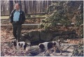President Bush walks with his dogs, Millie and Ranger, at Camp David - NARA - 186442.tif