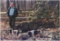 President Bush walks with his dogs, Millie and Ranger, at Camp David - NARA - 186442.tif