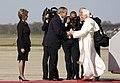 Bush greets Pope Benedict XVI 2008.jpg