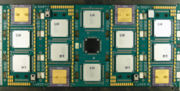 Processor board of a CRAY T3e parallel computer with four superscalar Alpha processors