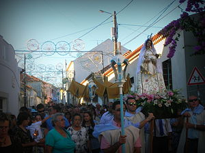 Cartaxo - The religious procession during the festival of Nossa Senhora da Graça