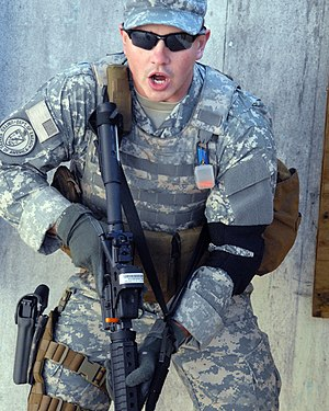 Federal Protective Forces - A Protective Forces member trains at the Savannah River Site in 2008.