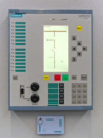 Protective relay - A digital (numeric) multifunction protective relay for distribution networks. A single such device can replace many single-function electromechanical relays, and provides self-testing and communication functions.