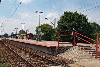 Warszawa Zoo railway station - Image: Przystanek kolejowy Warszawa Zoo