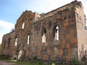 Ptghnavank - Front façade of Ptghnavank.