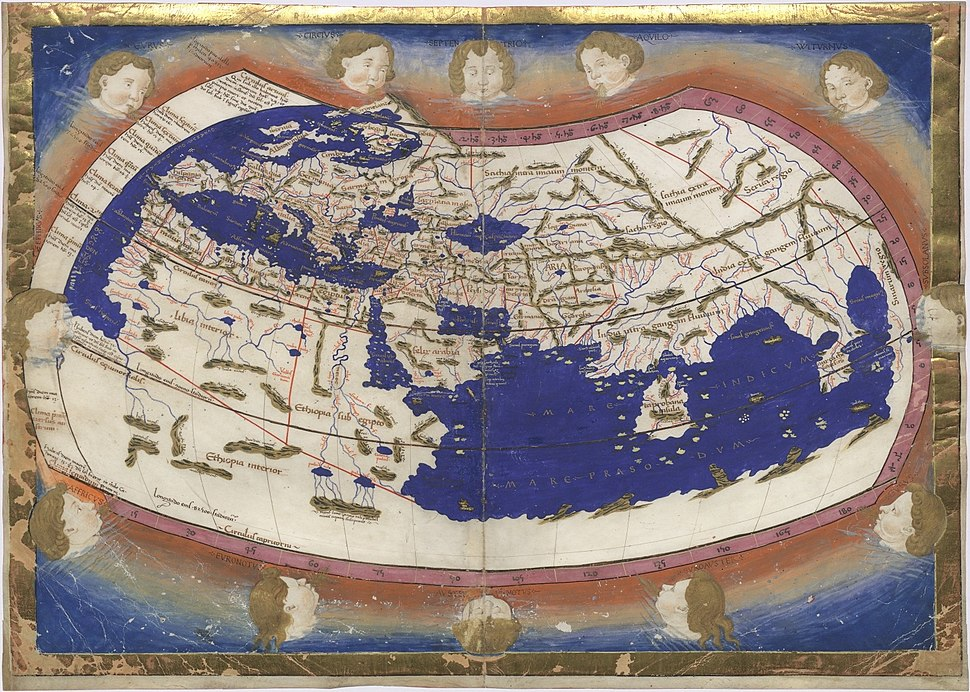 Ptolemy Cosmographia 1467 - world map