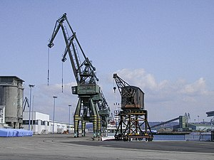 Harbour cranes in La Coruna (Spain)
