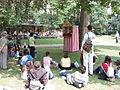 Punch and Judy spectators, Russell Square - geograph.org.uk - 463450.jpg