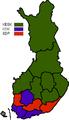 Puolueiden kannatus vaalipiireittäin eduskuntavaaleissa 2007.png