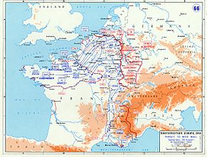 Map Of France During Ww2.Allied Advance From Paris To The Rhine Wikipedia