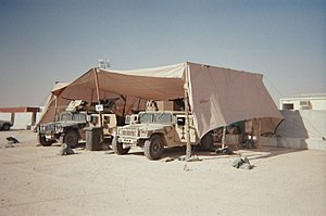Quick reaction force - A U.S. Army Quick Reaction Force staging area at Camp Buehring, Kuwait circa 2005