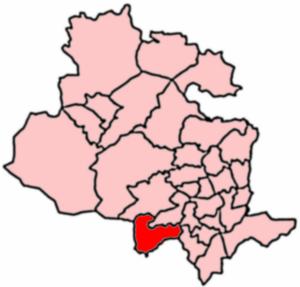 Queensbury, West Yorkshire - 2004 boundaries of Queensbury Ward