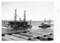 Queensland State Archives 4079 Dredges Brisbane River c 1949.png